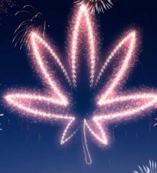 大麻合法化の花火